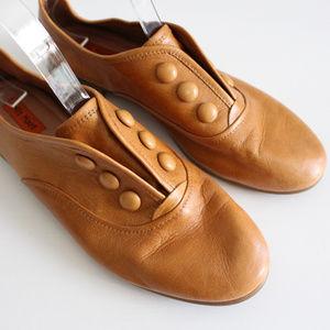 MIZ MOOZ Rare Augustin Camel Leather Loafer Flats